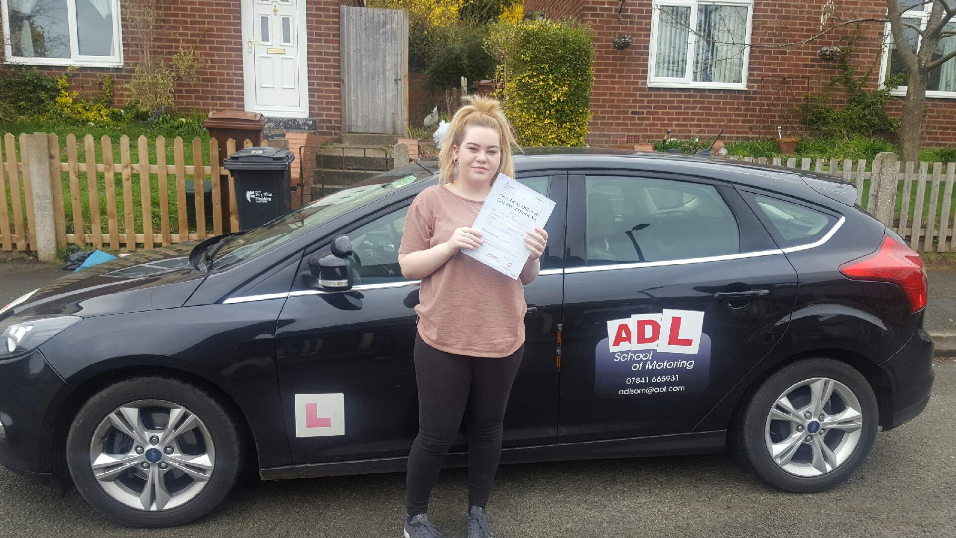 More great news from ADL SCHOOL OF MOTORING.