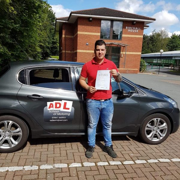 A Saturday test success for ADL SCHOOL OF MOTORING